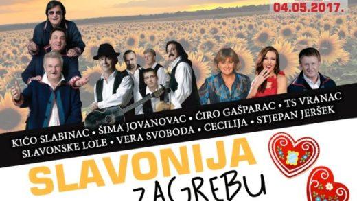 Koncert 'Slavonija Zagrebu' 4. svibnja u Lisinskom