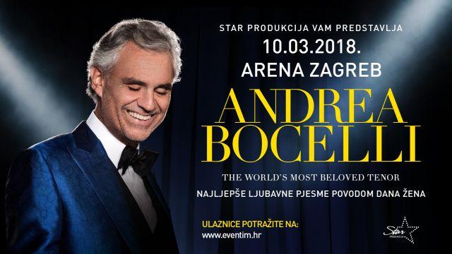 Ekskluzivni nastup Andree Bocellija u zagrebačkoj Areni