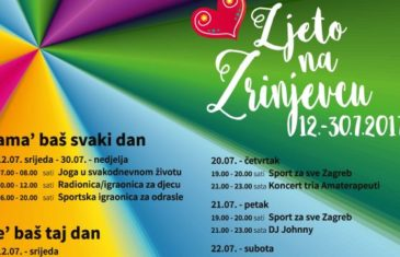 'Ljeto na Zrinjevcu' od 12. 7. do 30. 7.2017.
