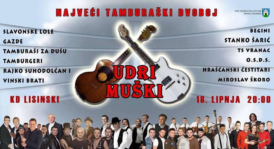 """""""Udri muški"""" – najveći tamburaški dvoboj u Lisinskom"""
