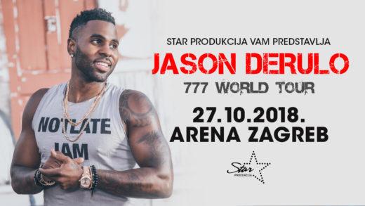 Jason Derulo prvi put u Hrvatskoj 27.10. u Areni Zagreb