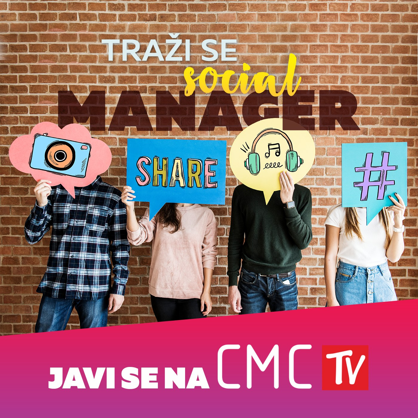 CMC televizija traži Social Managera!