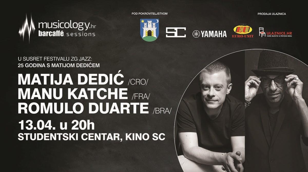 Matija Dedić, Manu Katché i Romulo Duarte – koncert koji se ne propušta