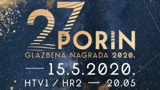 Prvi puta u povijesti, dodjela glazbene nagrade Porin održava se kao televizijska emisija