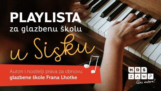 Hrvatski autori i nositelji prava doniraju tantijeme za Glazbenu školu u Sisku