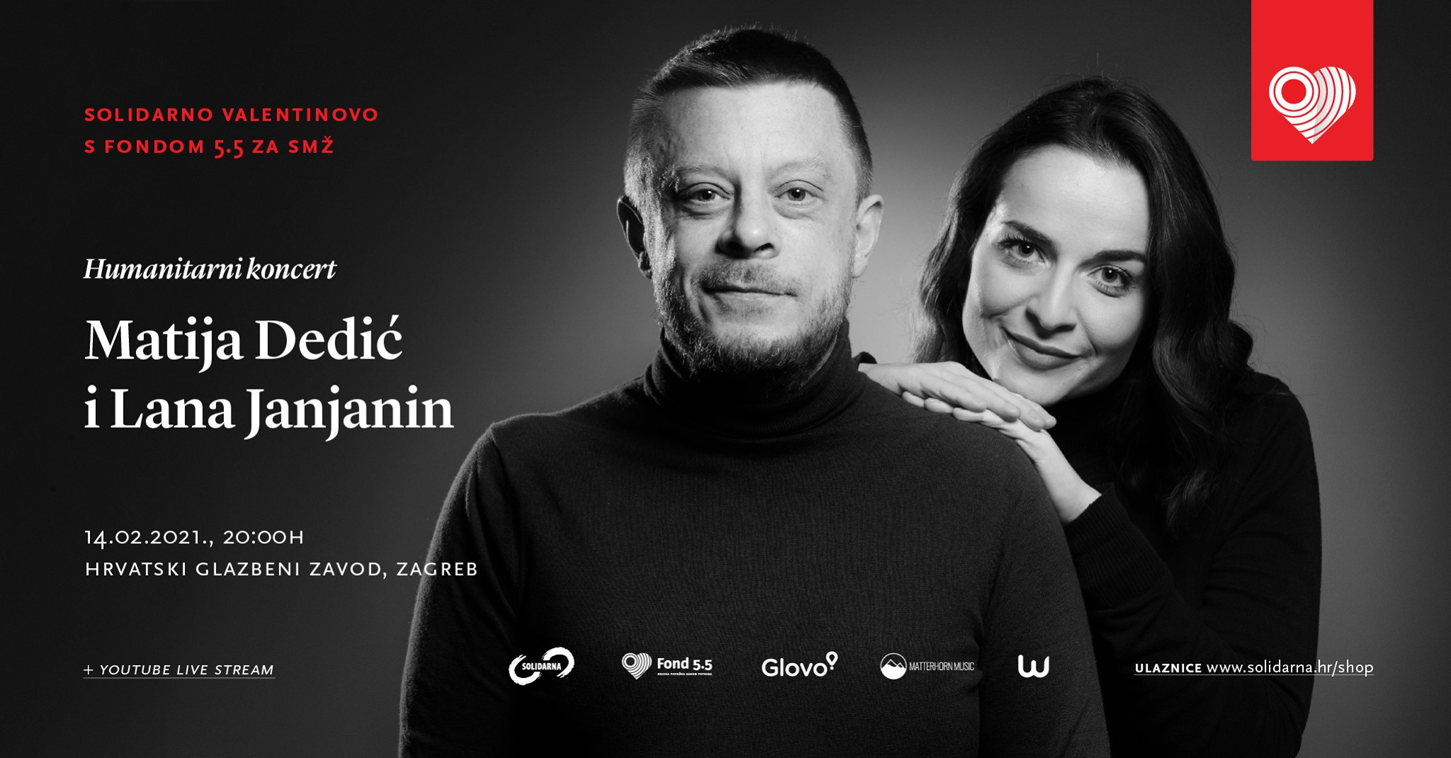 "Matija Dedić i Lana Janjanin priredili humanitarno ""Jazz Valentinovo"""