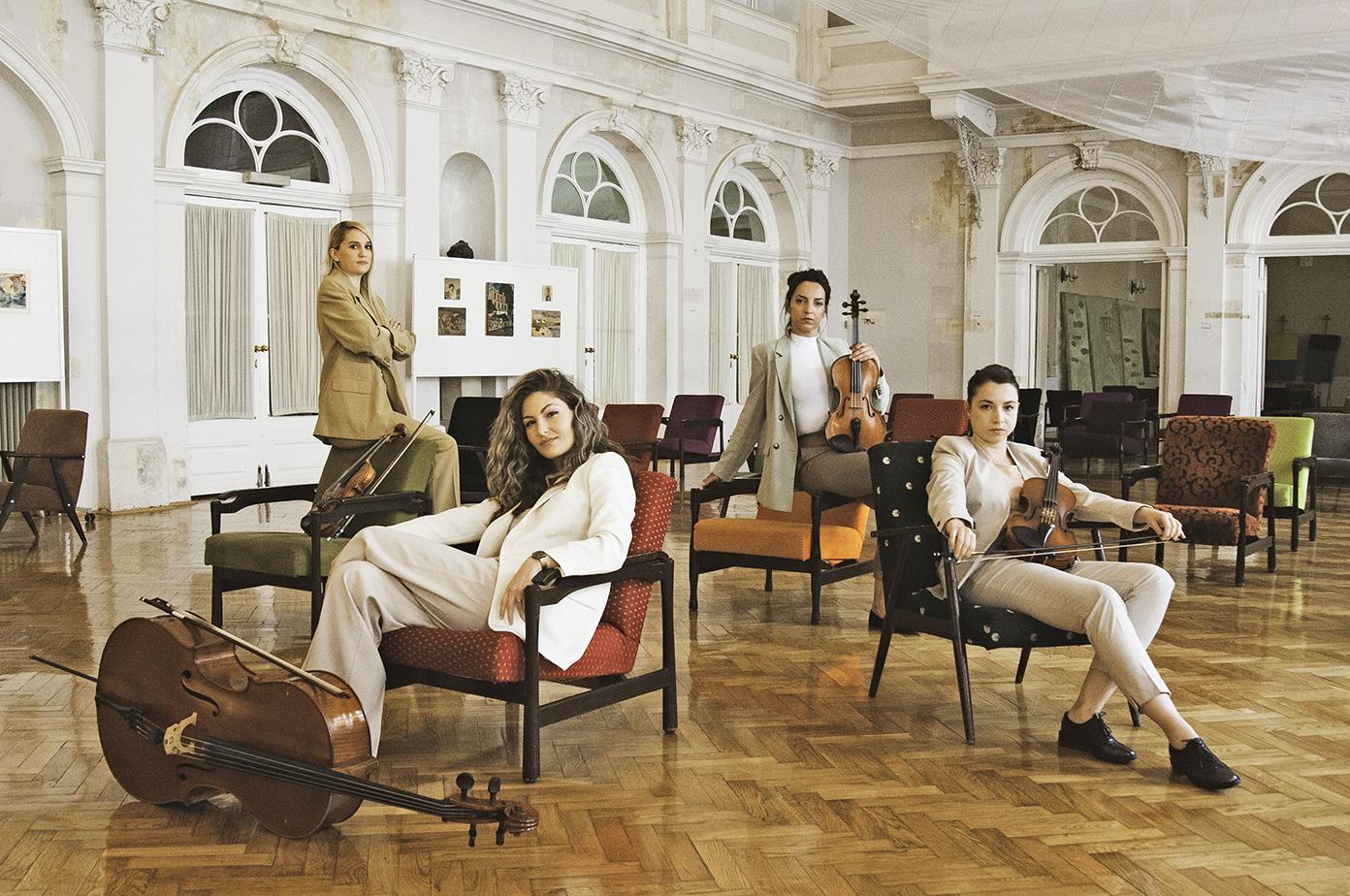 Kvartet Vortex Strings priprema koncert u Hrvatskom glazbenom zavodu