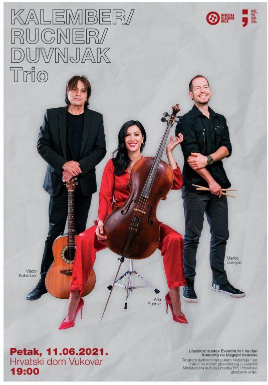 Zajednički koncert Ane Rucner, Vlade Kalembera i Marka Duvnjaka 11. lipnja u Vukovaru